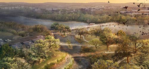 Rendering of Waller Creek area