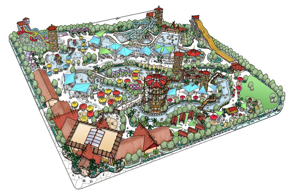 Plans for Hawaiian Falls Water Park